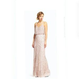 Adrianna papell blouson blush gown